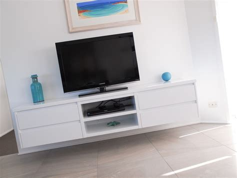 White Gloss Polyurethane Floating Tv Cabinet With Floating Cabinet Tv