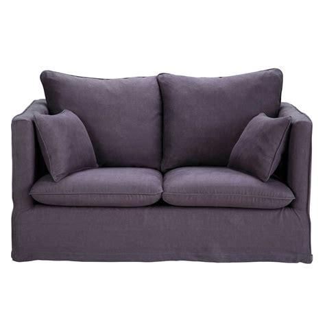 divani viola divano viola scuro in lino 2 posti timoth 233 e maisons du monde