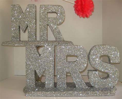 creative wedding ideas from etsy mr and mrs decor sparkly
