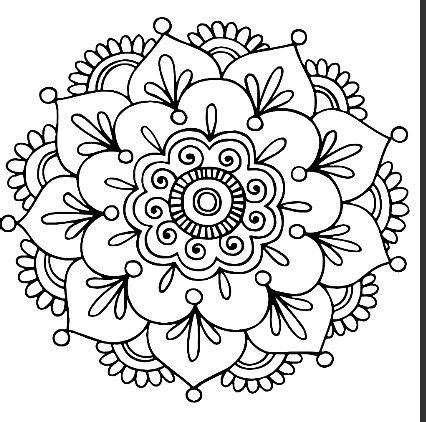 easy mandala coloring pages for adults best 25 simple mandala ideas on