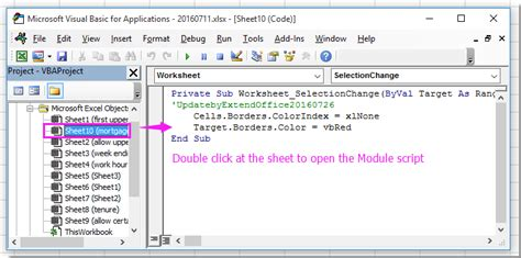 change border color  active cell  excel