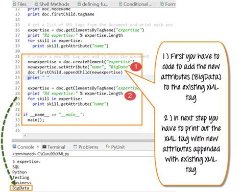 xml tutorial list python xml parser tutorial create read xml with exles