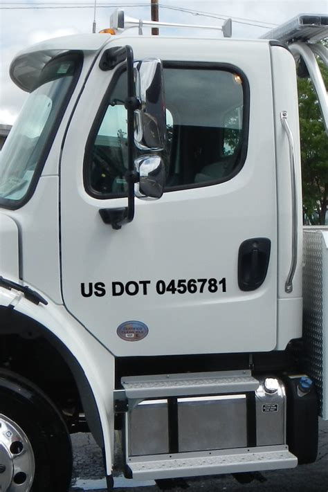 Dot Stickers For Trucks us dot number decal san diego sticker