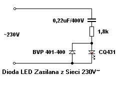 led dioda na 230v dioda led pod 230v czy da się podłączyć na opornikach