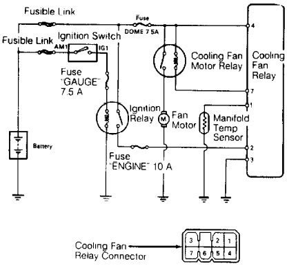 wiring diagrams toyota land cruiser 1989 cooling fan