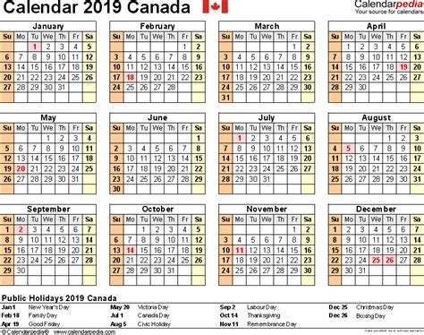 20 Year Calendar With Holidays 2019 Calendar Canada 2018 Calendar With Holidays