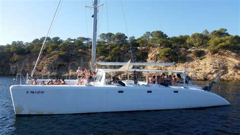 catamaran ibiza formentera fiesta catamaran hire ibiza 80 people party boat ibiza