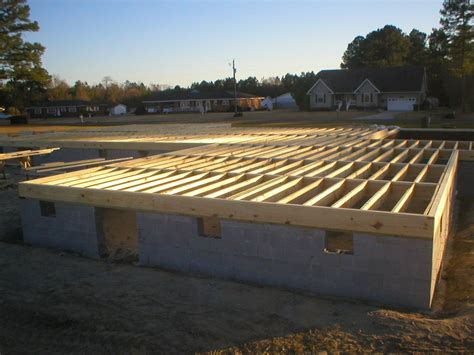 wood joist floor assembly