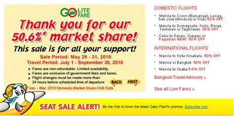Cebu Pacific Domestic Seat Sale by Adventurous Cebu Pacific Seat Sale Promo Domestic