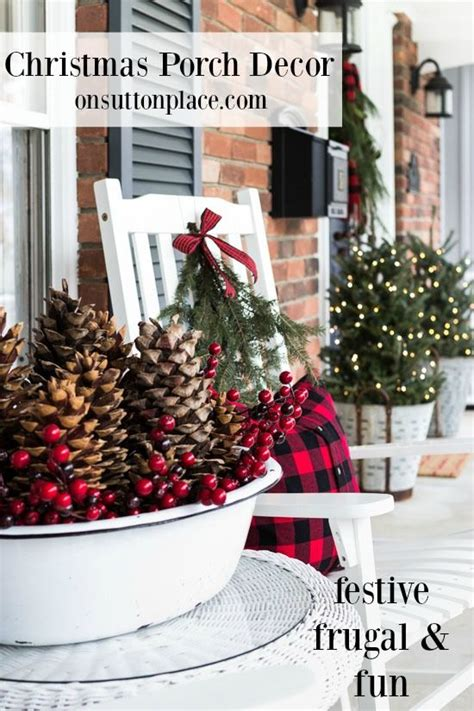 frugal christmas christmas porch and christmas front