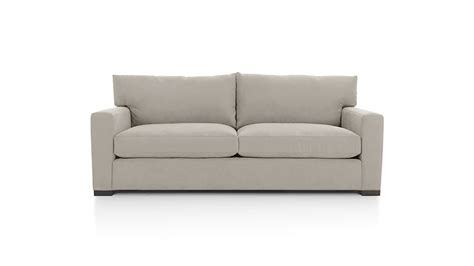 2 seat couch axis ii grey 2 seat couch crate and barrel