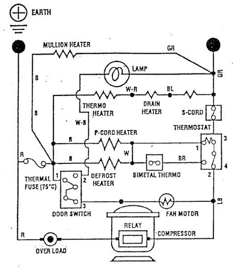 schematic wiring diagram of a refrigerator autocurate net