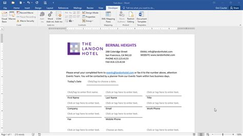 microsoft word notebook layout 2016 forms in depth with word 2016