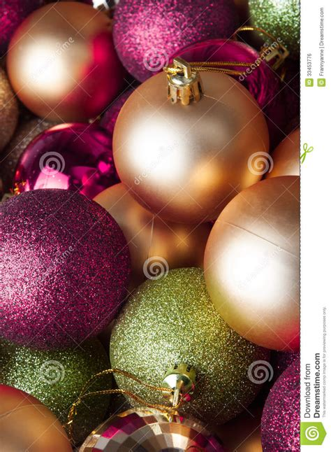 Putting It Together Green Pink by Baubles Mixed Collection Royalty Free Stock