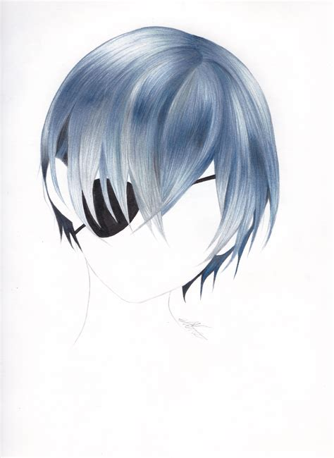 ciel color made a new hair drawing of ciels pretty blue hair blue
