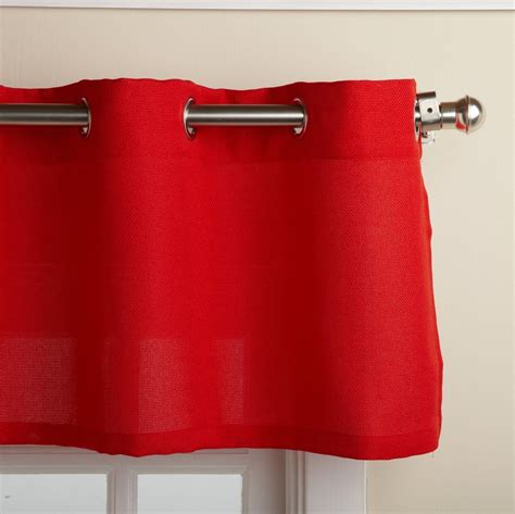 red kitchen curtain jackson textured solid red kitchen curtain choice tiers or