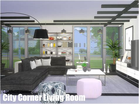 sims 4 wohnzimmer city corner living room by qoact at tsr 187 sims 4 updates