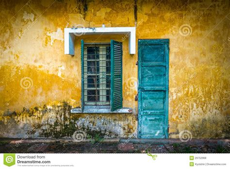 how to open a locked house window old and worn house on street in vietnam royalty free stock photos image 29752968