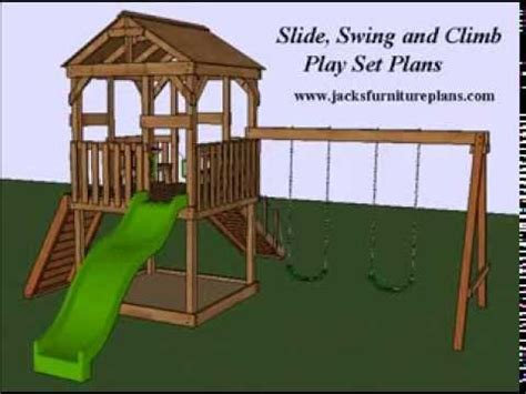 wooden swing set plans download free myfixituplife real wood playset edition doovi