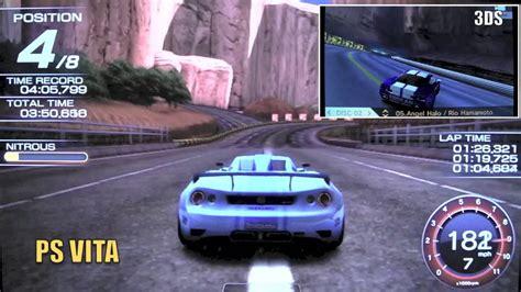 Kaset Ps Vita Ridge Racer ridge racer ps vita vs 3ds graphics comparison hd