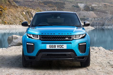 land rover evoque blue range rover evoque landmark edition celebrates sales