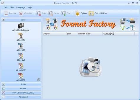 format factory para que sirve format factory conversor gratuito para tus im 225 genes