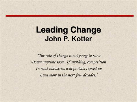 kotter management and leadership john kotter change management model leadership