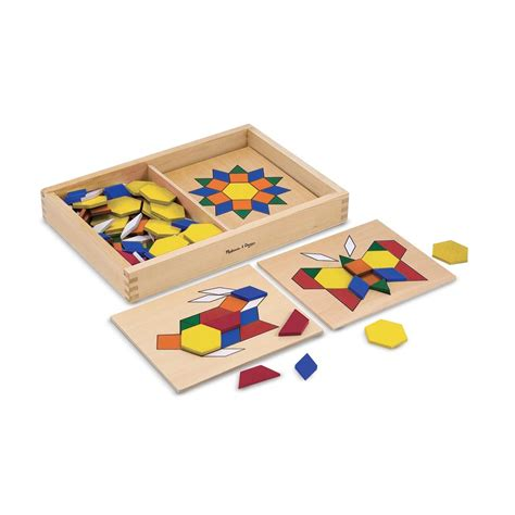 Doug Pattern Blocks And Boards Classic Berkualitas wood pattern blocks boards by and doug