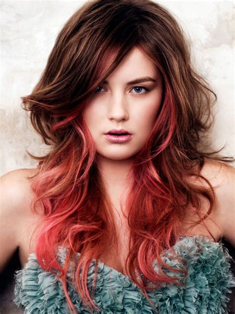 hairstyles and colours for long hair 2016 attractive red ombre hair color ideas for young girls