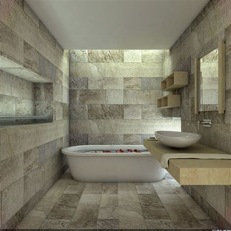 bathroom with stone stone bathroom designs varnished wood wall mirror frame