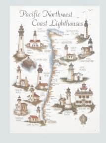 west coast lighthouses map bev s studio inc west