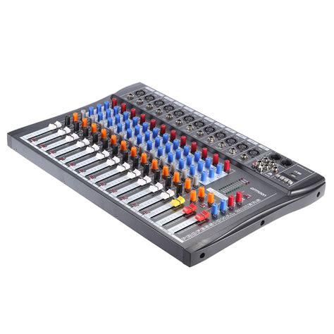 Oudio Mix Cctv 1 ammoon 120s usb 12 channels mic line audio mixer mixing sales eu tomtop