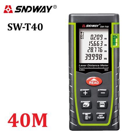 Laser Distance Meter 40 sndway 40m digital laser rangefinder 131ft handheld