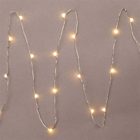 miniature lights gerson 36903 18 light 3 silver wire warm white battery