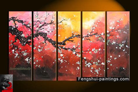 feng shui painting chinese feng shui painting chinese cherry blossom painting