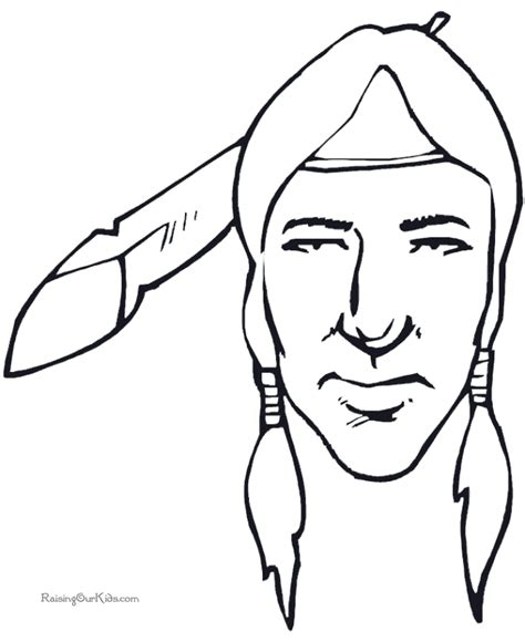 indian face coloring page printable indian coloring pages coloring home