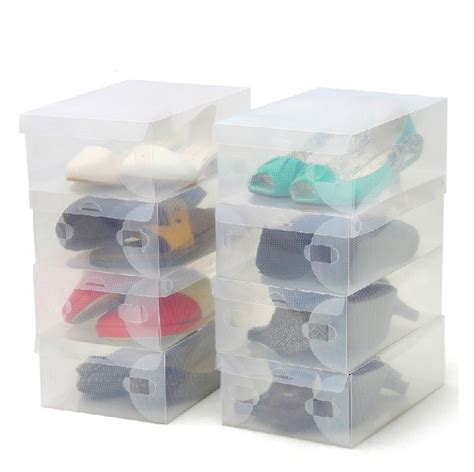 clear plastic shoe storage boxes transparent clear plastic shoe storage box foldable