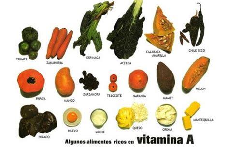 alimentos con vit a para que sirve la vitamina a beneficios propiedades