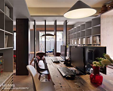 home design studio space 工作室办公区书柜装修效果图 设计本装修效果图