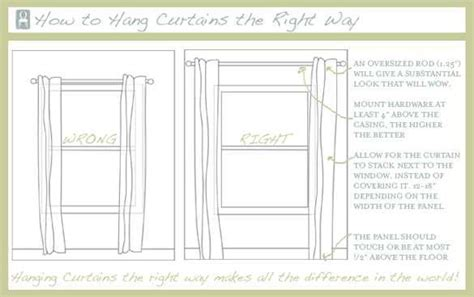 the right way to hang curtains the right way to hang curtains home sweet home