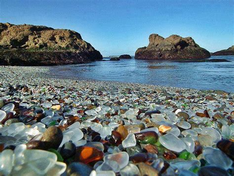 glass beaches sparkling glass beach of california