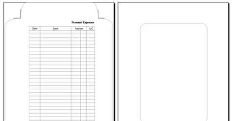 printable envelope a5 my life all in one place making filofax expenses