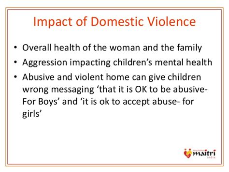 section 22 mental health domestic violence presentation by maitri india