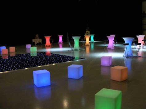 led cube seat hire london poseur table hire cube stool