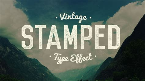 tutorial vintage typography photoshop vintage sted text tutorial in photoshop youtube