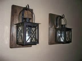 Lantern Wall Sconce Rustic Bathroom Decor Wrought Iron Lantern Set Wall By Lisamarieds