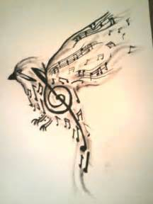 bird made up of music notes tattoo design tattoos book