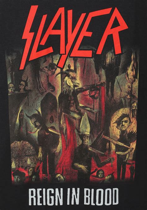 blood in slayer in blood t shirt