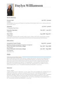 sample resume grocery store clerk sample resume