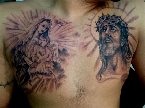 jesus chest tattoos for men jesus chest tattoos for www imgkid the image